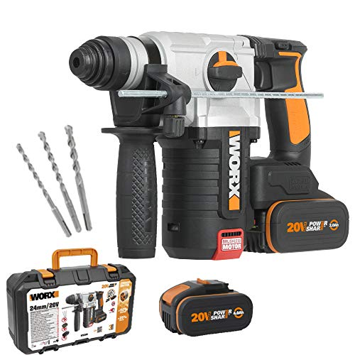 Worx WX380 Martillo 4F Brushless 2,2J 20V 2 Bat 4Ah