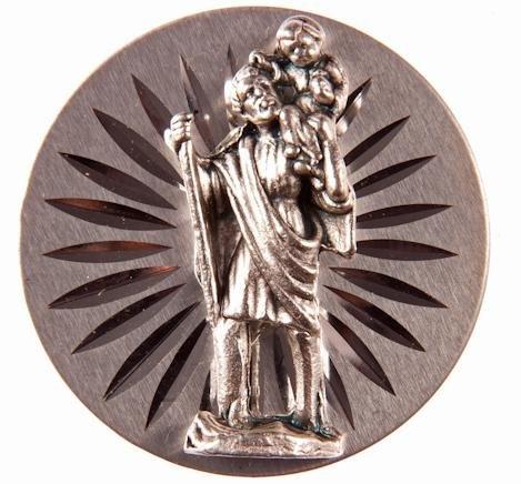 Preisvergleich Produktbild Religiöse Magnete.Magnetische Platte mit dem Bild von Heiligen Cristoforo,  Schutzer den Fahrer