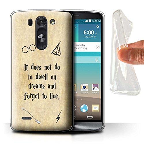 Hülle Für LG G3 Mini S/D722 Schule der Magie Film Zitate Dwell On Dreams Design Transparent Dünn Weich Silikon Gel/TPU Schutz Handyhülle Hülle