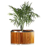 Wooden Planter Stainless Steel