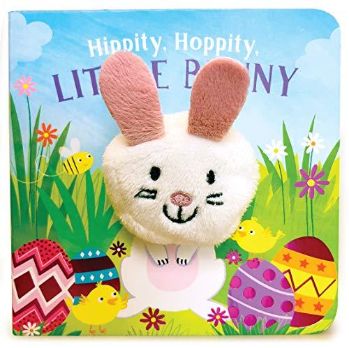 Hippity, Hoppity, Little Bunny (Finger Puppet Board Book for Easter Basket Stuffer Ages 0-4) (Finger Puppet Book)