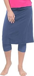 Kosher Casual Women's Modest Knee Length Sports Skirt with Leggings