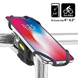 Bone 【日本正規総代理店】 Bike Tie 2 自転車 スマホ ホルダー ステム用 超軽量 全シリコン製 脱着簡単 脱落防止 4-6.5インチのスマホに対応 iPhone 11 Pro Max XS XR X 8 7 6S Plus Xperia ZX3 Galaxy S10 S9 S8 note 9 Pixel 3 XL TorqueG03 (ブラック)