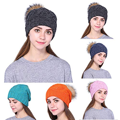 Affordable Women Winter Slouchy Beanie Hat with Warm Fleece Lined, Thick Slouchy Snow Knie Skull Ski...