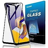ZE620kl ガラスフィルム TopACE Zenfone 5 ZE620kl / ZenFone 5Z ZS620KL フィルム 硬度9H 3D 耐衝撃 撥油性 超耐久 耐指紋 飛散防止処理保護フィルム 【全画面貼る可能】液晶画面全面タイプ ASUS Zenfone5 ZE620kl対応 (ブラック)