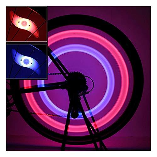 M-JJZX Fahrrad Speichen Licht 3 Beleuchtungsmodus LED Fahrrad Rad Licht Sicherheit Warnlicht mit Batterie wasserdicht (Color : D)