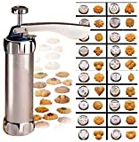 Cookie Press Maker Kit for DIY Biscuit Maker and Decoration with 20 Stainless