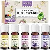 EasyCrafts® Seifenduftöl Bio - Seifenduftöl Set aus 5 x 10 ml blumige Düfte zum Seife selber...