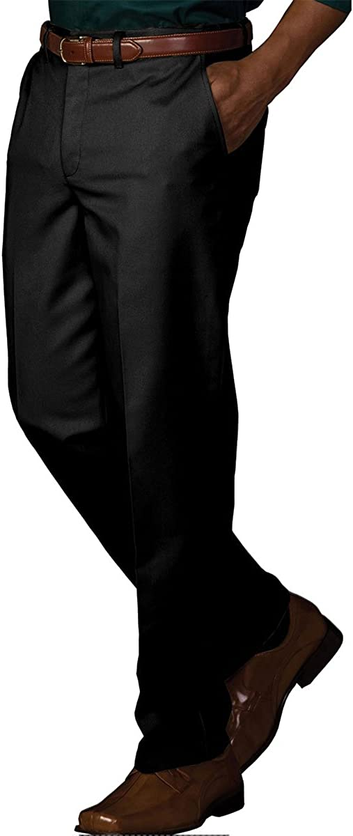 Ed Garments Men'S Casual Chino Blend Easy Fit Pant-Black-36-28