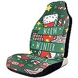 Coprisedili Natale Capodanno Warm Winter Wishs 2 Coprisedili per Auto Coprisedili Anteriori Sedili Anteriori Solo Camion SUV con Adattamento Universale