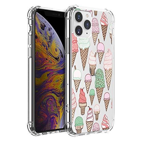 ZhuoFan Funda para Samsung Galaxy S20 FE 5G/S20 Lite de 6,5 pulgadas, carcasa de silicona transparente con diseño de flores, ultrafina, cuatro esquinas, amortiguación, suave, color hielo