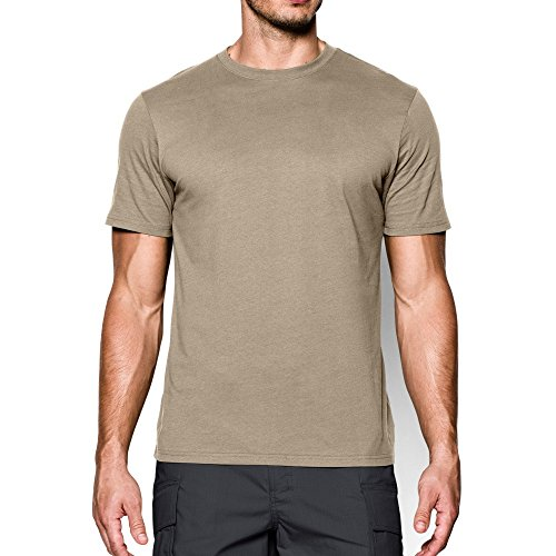 Under Armour T-Shirt Tactique Charged Cotton pour Homme Taille XXXL Marron (Sable du désert/Non).