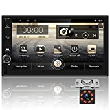Android Double Din Car Radio 7 inch Touch Screen car stereo with Split screen function GPS Navigation Radio Player Bluetooth WIFI FM Receiver 2 USB+Backup Camera