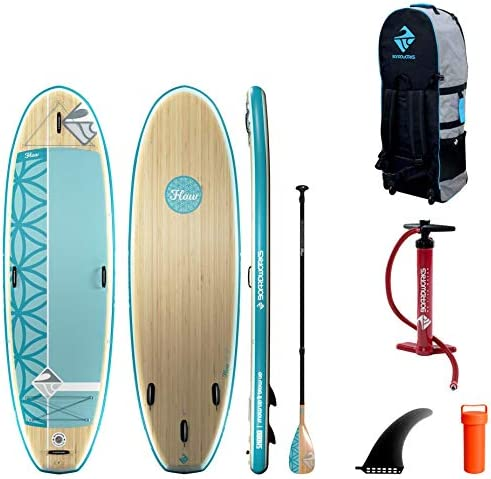 Boardworks SHUBU Flow All Water Yoga Inflatable Stand Up Paddle Board iSUP SUP Package Includes product image
