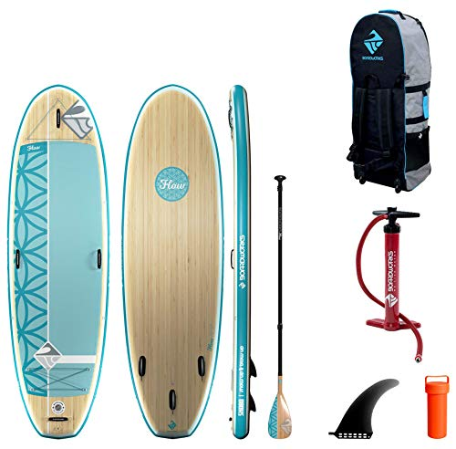 """Product Image 1: Boardworks SHUBU Flow All-Water Yoga Inflatable Stand-Up Paddle Board (iSUP) 