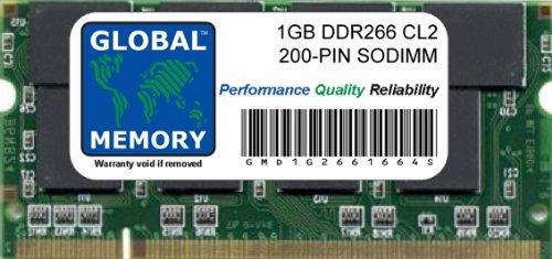 GLOBAL MEMORY 1 GB DDR266 MHz PC2100 200 Pines de Memoria RAM...