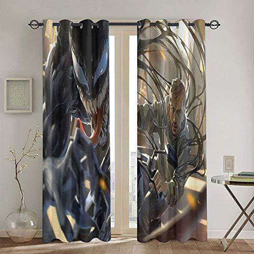 Juego de cortinas para ventana de habitación de niñas, 139,7 x 160 cm