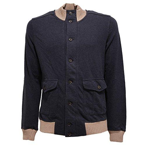 Eleventy 6128V Felpa Uomo Cotton Blue Sweatshirt Men [L]