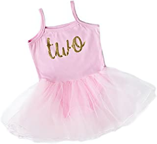 Scarlett Gene Baby Girl Second Birthday Outfit, Sparkly Gold Two Tutu Dress, Perfect for Toddlers Second Birthday Party