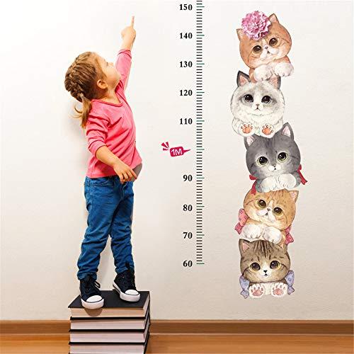 HUMINGG Gráficos de Crecimiento Pegatinas de Pared Gráfico de Crecimiento Altura Medición Pegatina Mural para niños DIY Altura Wallsticker (Color : Gold)