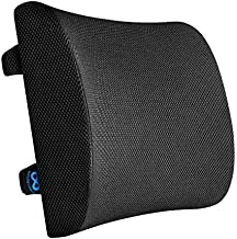 Everlasting Comfort Lumbar Support for Office Chair - Pure Memory Foam Lumbar Pillow for Car (Black)