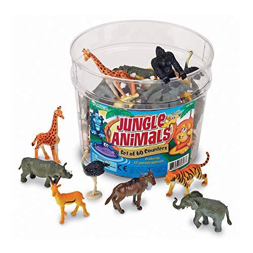 Learning Resources- Figuras de Animales de la Jungla, Color (LER0697)