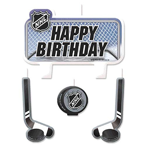 amscan NHL Ice Time! Collection Birthday Candle Set,Multicolor,10 Pieces