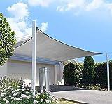 DIIG Patio Sun Shade Sail Canopy, 8' x 12' Rectangle Shade Cloth Block Sunshade...