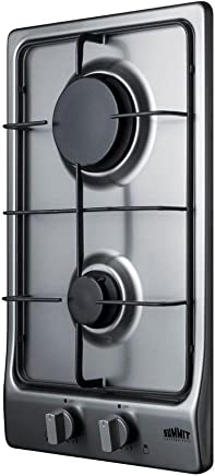 Stainless-Steel Cooktops Summit GC22SS Gas Cooktop