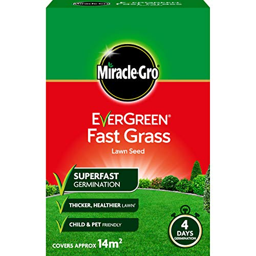 Miracle-Gro 119617 EverGreen Fast Grass Lawn Seed 420g - 14m2