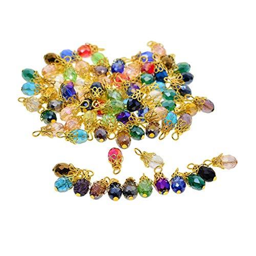 B Blesiya - 50 colgantes de cristal para pulsera, collar, pendientes, joyas, decoración