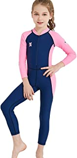 joyjorya Kids Wetsuit for Youth Boy's and Girl's One Piece Full Suit UV Protection Swimsuit for Surfing, Snorkeling, Diving Scuba and Pool Multi Water Sports