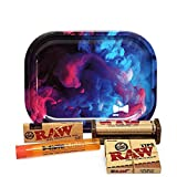 Bundle - 5 Items - Raw Classic 1 ¼ Rolling Papers, 79mm Roller, Pre-Rolled Tips with Hipp...