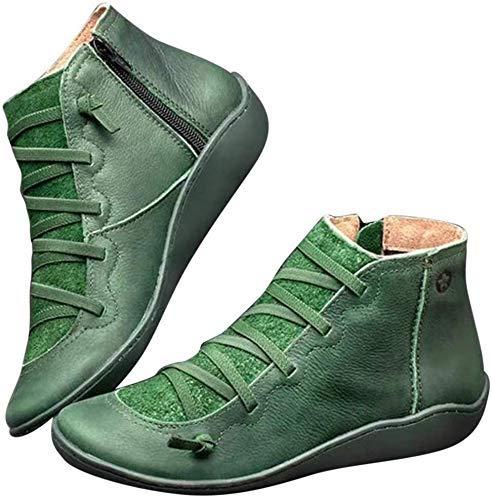 Covok lage rubberlaarzen, zachte laarzen, dames grijze laarzen, dames laarzen met lage hak, laarzen 40, vintage snooien, comfortabele laarzen rubberen broek 38 EU groen