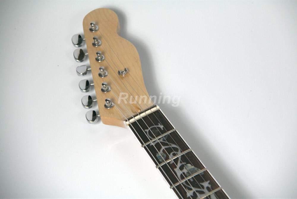Florwesr Guitarra Eléctrica De Cuerpo Semi Hueco De Chapa De Tapa ...