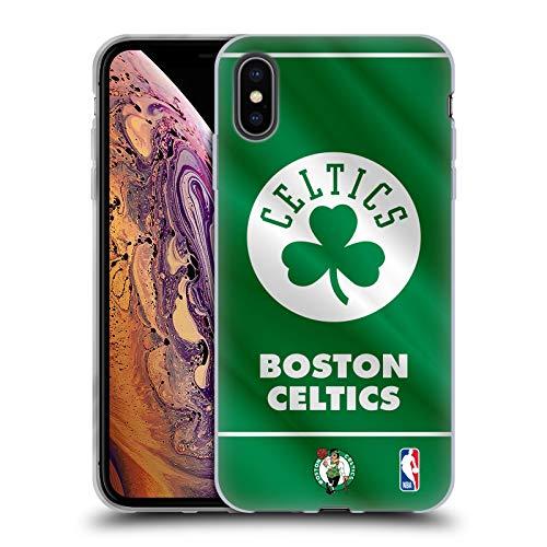 Head Case Designs Licenciado Oficialmente NBA Estandarte 2019/20 Boston Celtics Carcasa de Gel de Silicona Compatible con Apple iPhone XS MAX