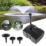 YAOBLUESEA 4 in 1 Teichpumpe Springbrunnenpumpe mit Filter UV-Klärer,Wasserspielpumpe Bachlaufpumpe,Stromkabel für Garten- und Springbrunnengestaltung(28W)