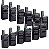 Retevis RT19 2 Way Radios Walkie Talkies Adults 22 Channel Lightweight Two Way Radios Long Range Rechargeable VOX Metal Clip(12 Pack)