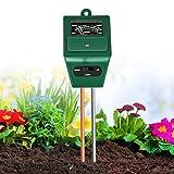 Xddias Tester per Il Suolo, 3 in 1 Tester per misuratore di umidità/Luce/PH dell'acidità delle Piante, igrometro per Il monitoraggio dell'Acqua del Suolo per la Cura del Giardino