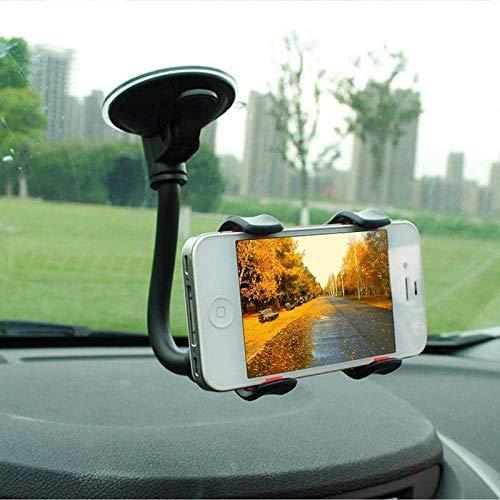 ZYZY Nuevo soporte giratorio de 360 grados del coche del teléfono titular automotriz de la ventana del parabrisas para el soporte del teléfono móvil Cuna flexible brazo largo-B