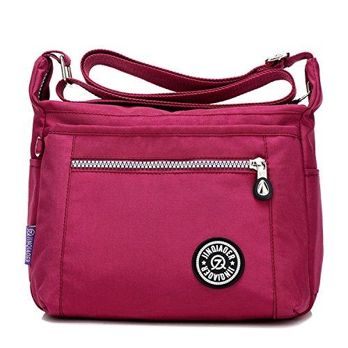 MeCooler Umhängetasche Mädchen Kuriertasche Wasserfeste Handtasche Messenger Bag Damen Taschen Designer Schultertasche Sporttasche für Reisetasche Strandtasche Nylon