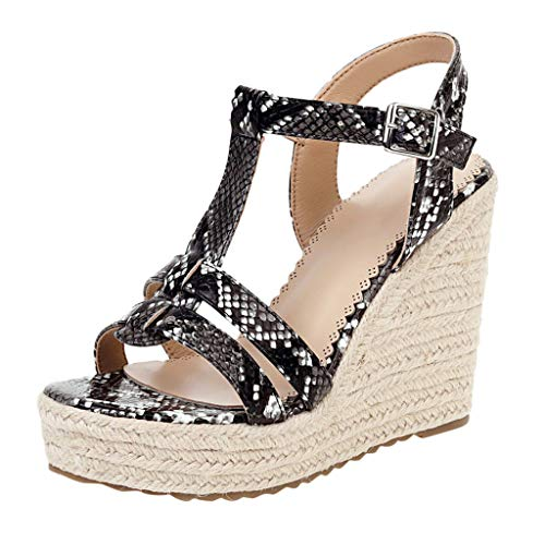 For Sale! KCPer Sandals for Women Wedge,Fashion Ankle Strap Buckle High Wedge Platform Heel Open Toe...
