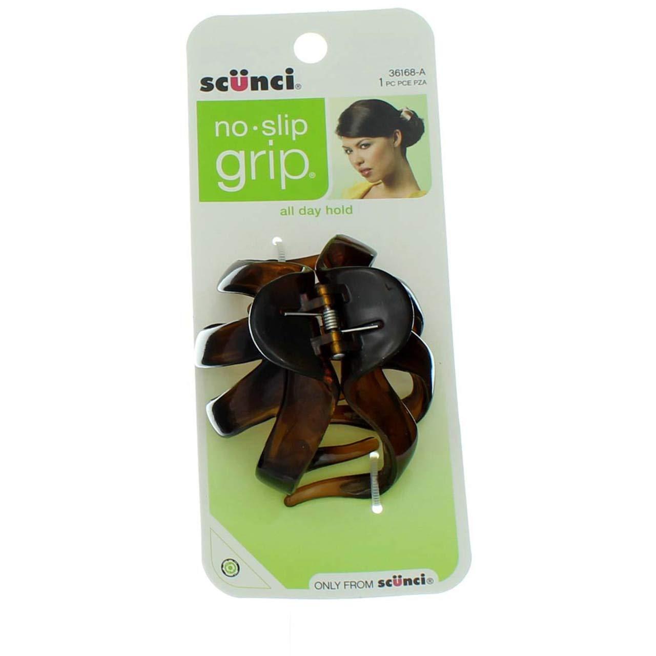 SCÜNCI 8 PC BLACK GREY ZEBRA HAIR CLIPS
