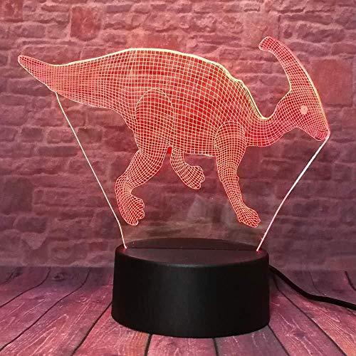Klassieke Dinosaur Action Figuur Draak 7 Kleur Verandering Jongens Slaapkamer Decor Nachtlampje Kind Kerstmis Vakantie Giftsnight Licht Gradient Led Kids Gift