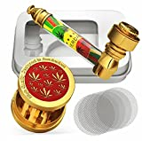 Cool Portable Metal Mini Pipe Unit Set with Travel Case (Red)
