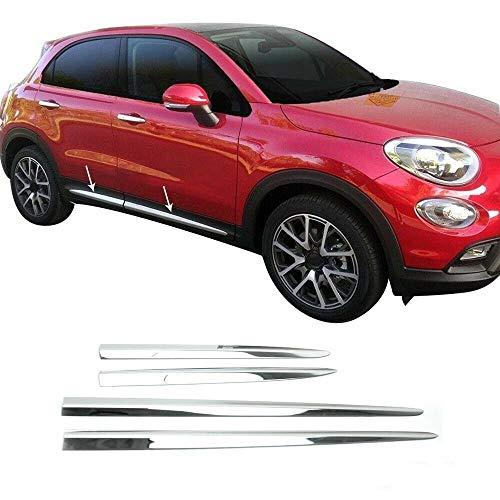 Mini profili protettivi in acciaio inossidabile cromato per portiera dell'auto, 4 porte, 4 pezzi