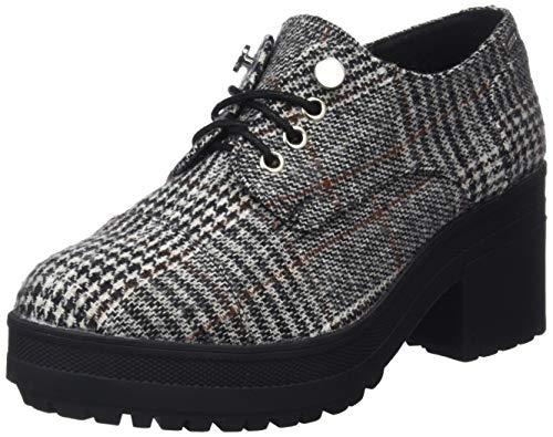 MTNG Collection 57408, Zapatos de Cordones Oxford para Mujer, Negro (Poule Blanco/Negro C42791), 38 EU
