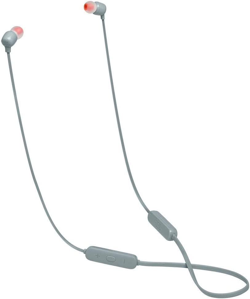 JBL TUNE 115BT - Wireless In-Ear Headphone with Remote - Gray (JBLT115BTGRYAM)