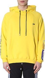 GCDS Luxury Fashion Mens PK19M02000104 Yellow Sweatshirt | Spring Summer 19
