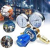Cdrox Regulador de Gas, Reductor de presión de oxígeno,Reductor de presión Universal de argón y dióxido de Carbono con presión manométrica, Adecuado para Gases comunes comunes Argón / CO2 / Gas inerte
